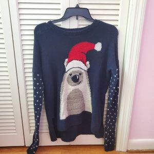NWOT polar bear santa holiday christmas sweater